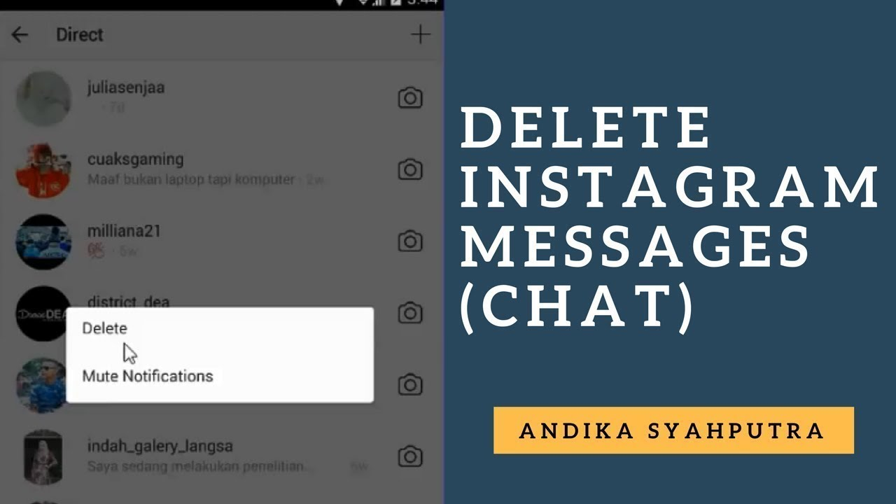 How to Delete Instagram Messages (Chat)