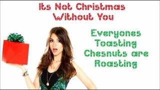 It's Not Christmas Without You - Victorious Cast Ft. Victoria Justice - FULL SONG with lyrics thumbnail
