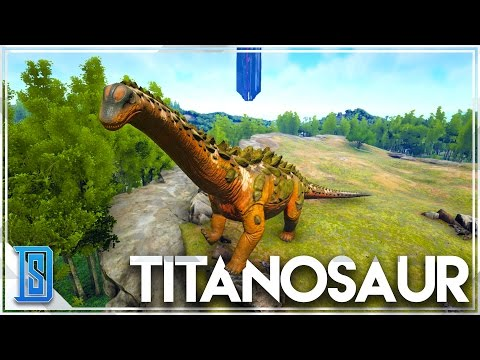 Ark Survival Evolved - TITANOSAUR RIDING GAMEPLAY/RED WOOD BIOME (RELEASE)