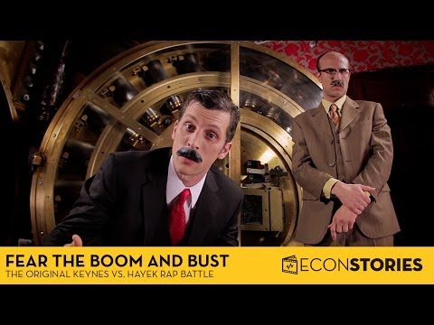"""Fear the Boom and Bust"": Keynes vs. Hayek Rap Battle"