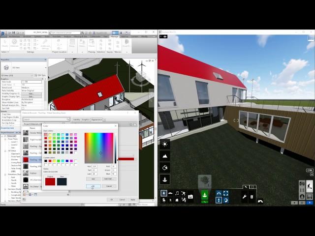 Lumion LiveSync for Revit - Revit materials