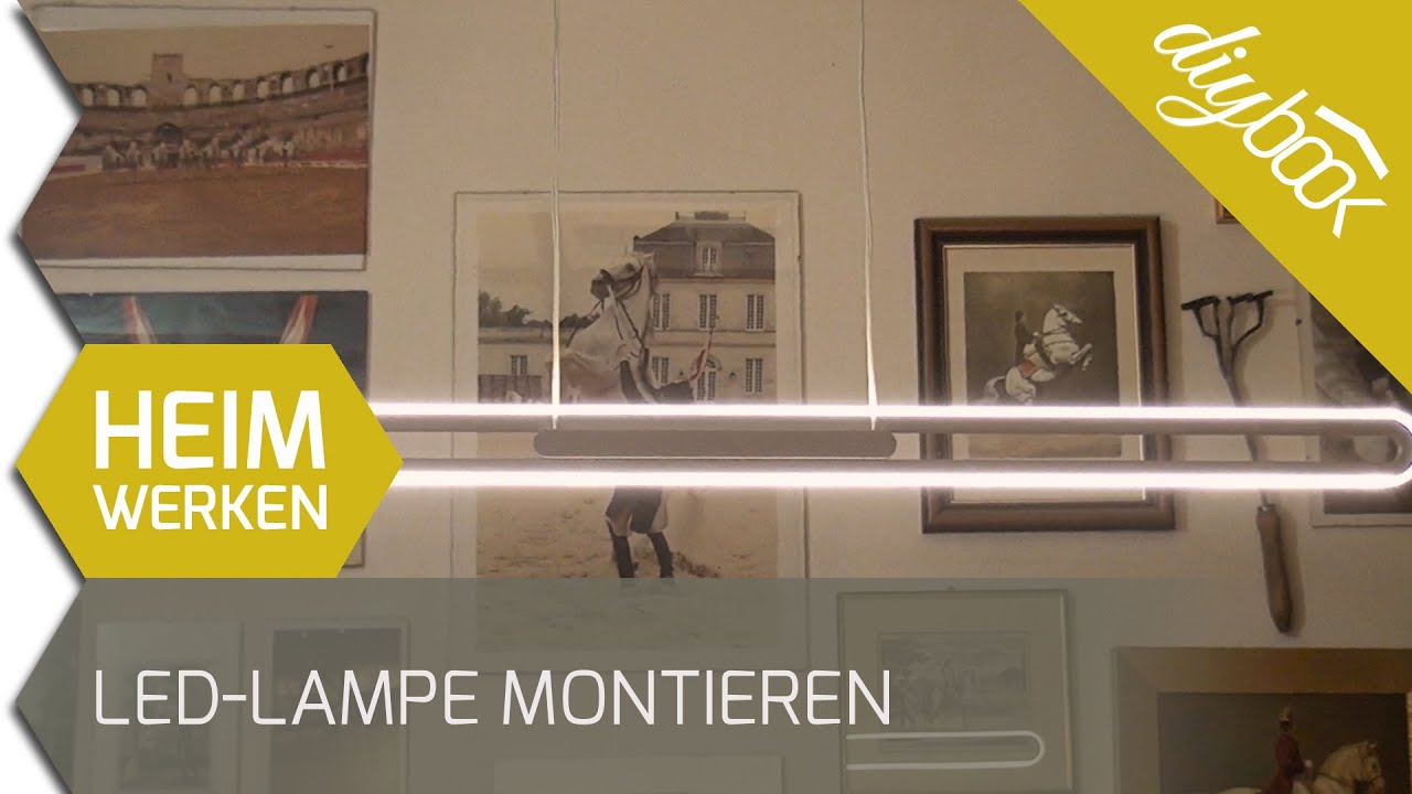 Led Küchenlampe Led-lampe Montieren - Youtube