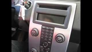 How to remove Radio / CD Changer / from Volvo S40 2006 for repair.