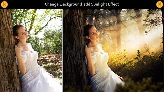 Change Background add Sunlight Effect - Photoshop Tutorial
