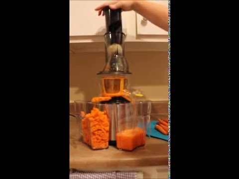 Gourmia Masticating Slow Juicer With Wide Mouth : Gourmia GSJ300 Wide Mouth Masticating Slow Juicer - YouTube