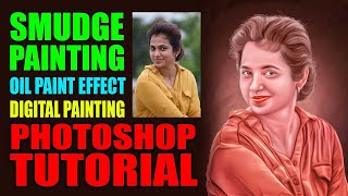 smudge oil painting photoshop tutorial 2019
