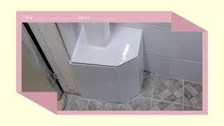 화장실 샤워장 타일 셀프리모델링 자가수리
