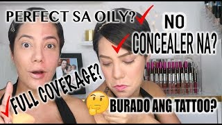 BEST FUNDA DAW? TOTOO BA? LOREAL INFALLIBLE TOTAL COVER REVIEW + FIRST IMPRESSION | Nina Rayos 💋