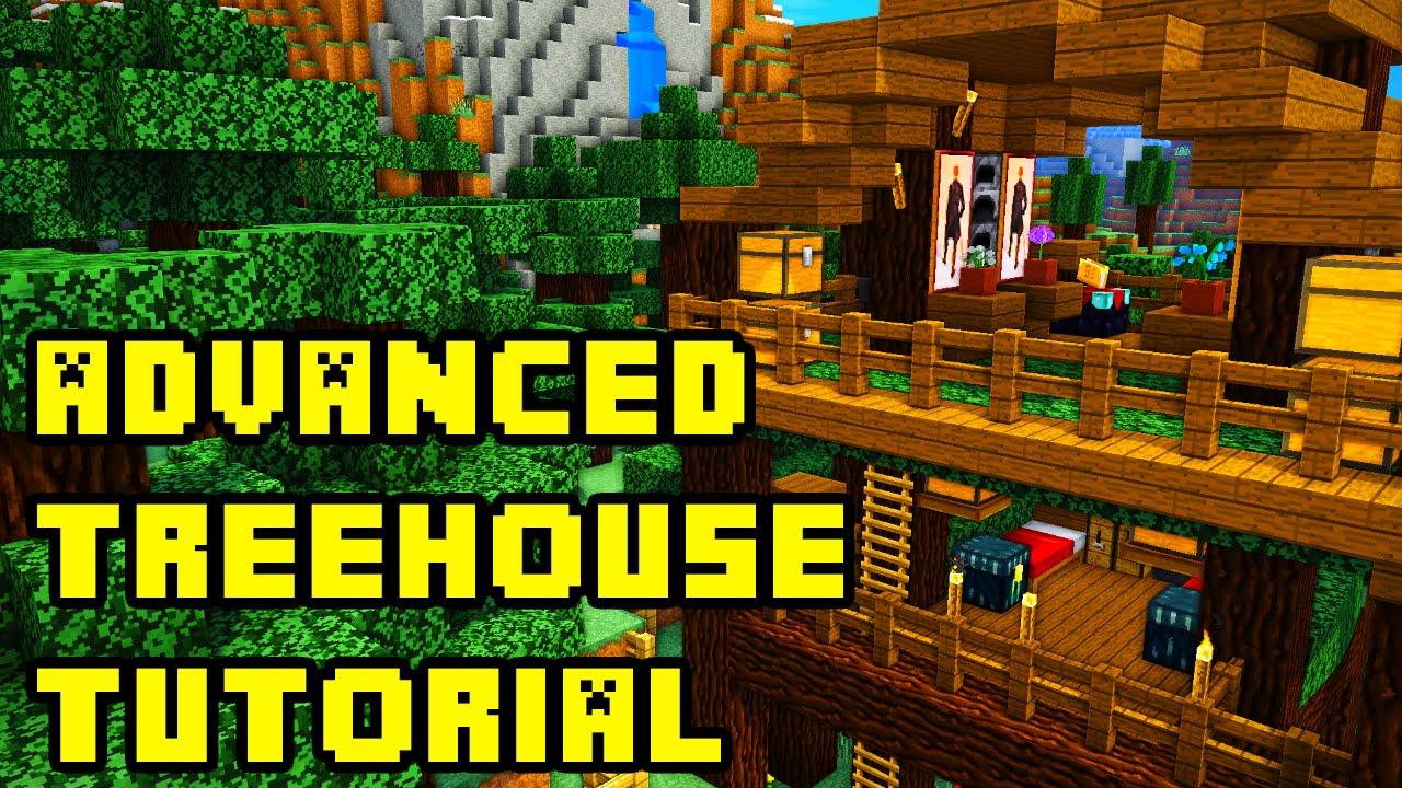 Minecraft Advanced Treehouse Tutorial Xbox Pe Pc Ps3 Ps4