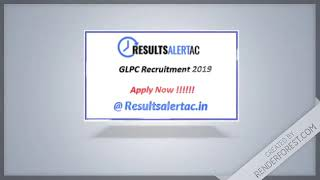 Glpc recruitment 2019 – computer operator, accountant, hr | 243 vacancies