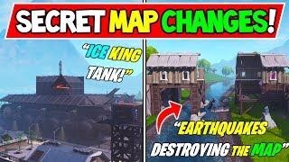 "*NEW* FORTNITE SECRET MAP CHANGES v7.42 ""EARTHQUAKES DESTROYING MAP"" + ""GIANT TANK"" SEASON 8 BEGINS!"