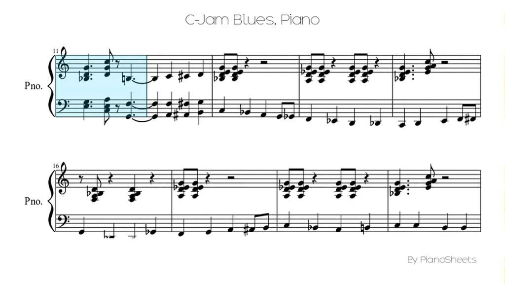 C-Jam Blues [Piano Solo]
