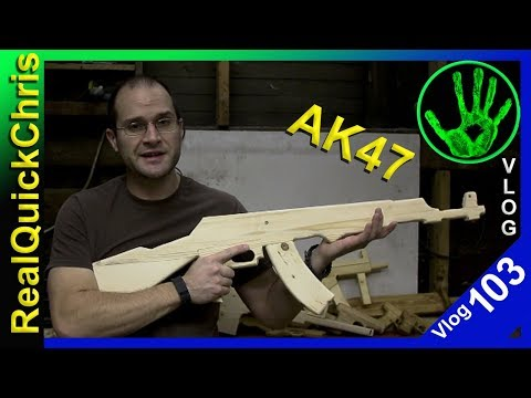 diy wooden ak47 toy  vlog 103