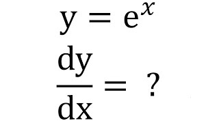 Part 2/4 (Exponential Function - e^x) - Derivative of Exponential & Logarithmic Functions