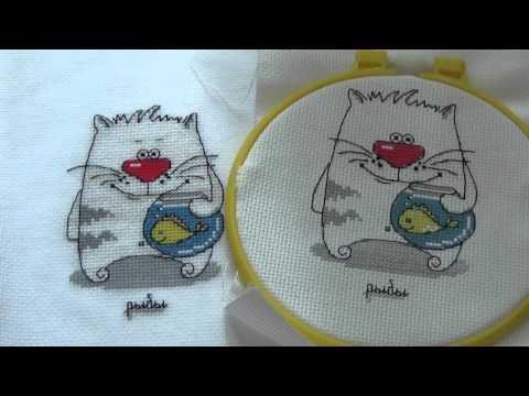 Вышивка кошачий гороскоп