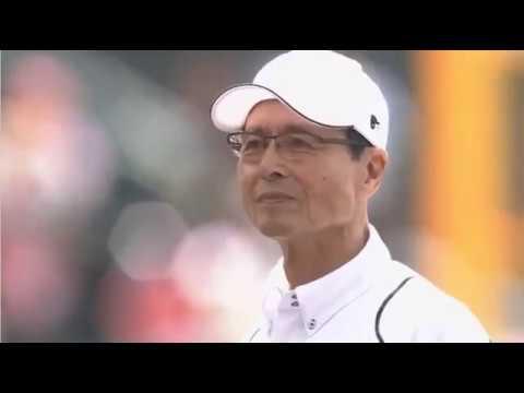 ▶王さん始球式、見事なストライク投球!