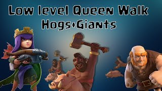 Th9 Queen Walk with Low Level Queen | Hog Attack Clash of Clans
