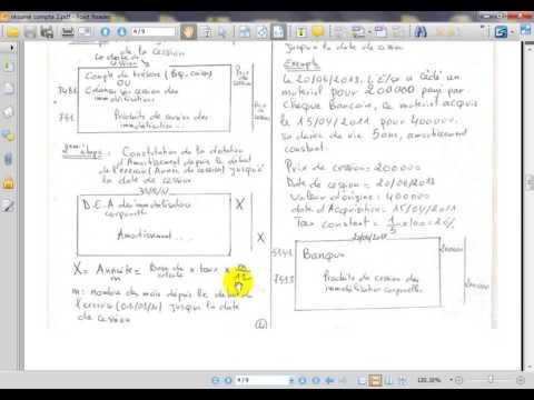 """comptabilité générale S2 """" les Amortissements partie 8 ' cession des immobilisations """""""