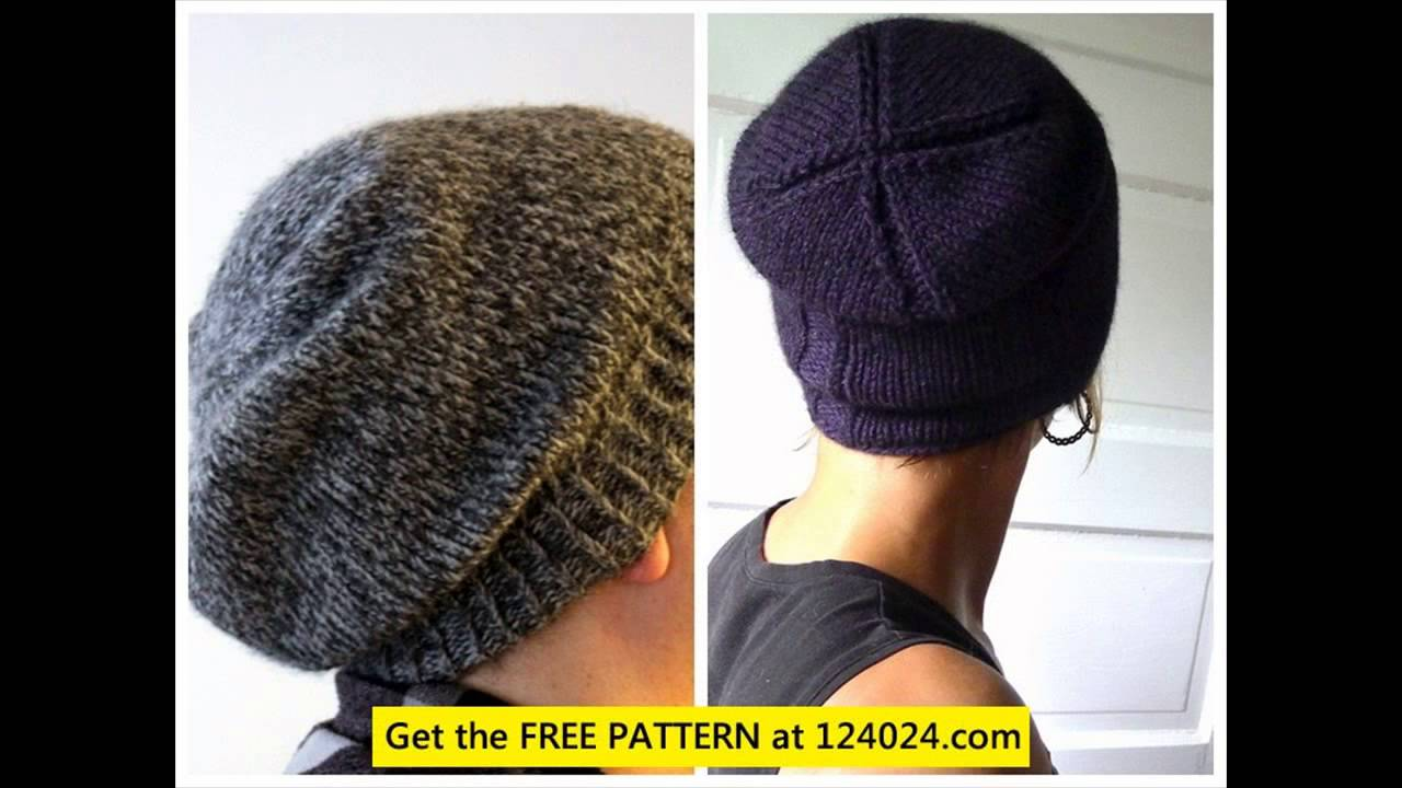 how to knit a slouchy beanie free beanie knitting pattern knit ...