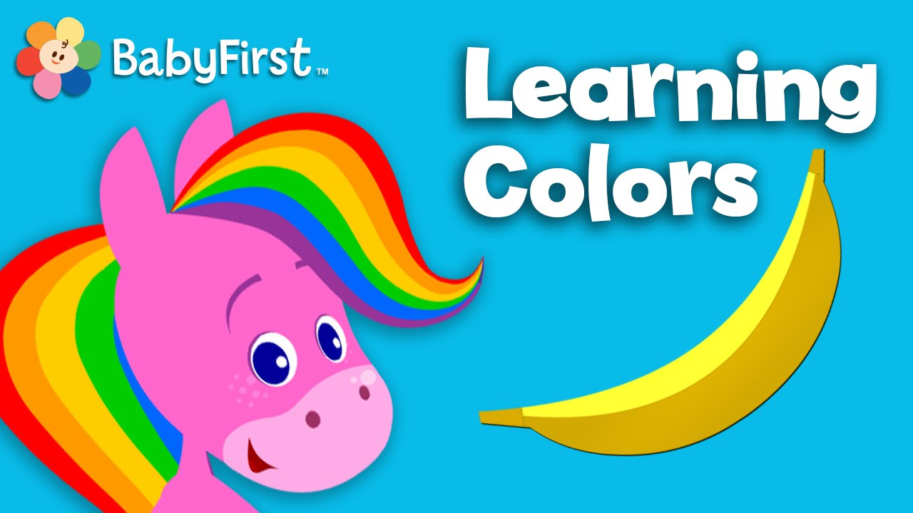 color cartoons for children learning colors for kids rainbow horse colorful preschool video youtube - Children Color
