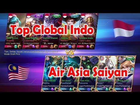 Super Big Match !!! Air Asia Saiyan ( Malaysia ) vs Top Global Indonesia - Mobile Legends