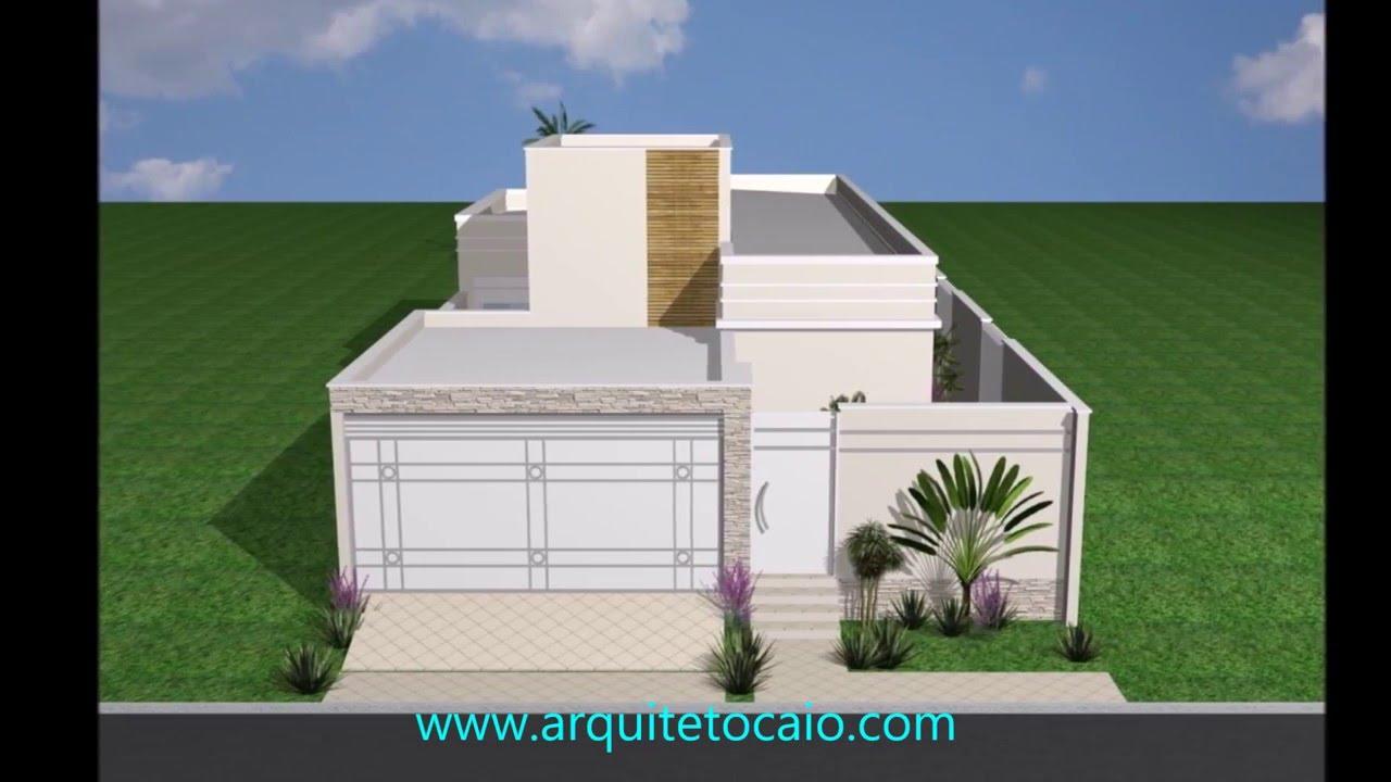 Projeto reforma casa terrea garagem 2carros 3suites 3 quartos area lazer arquiteto limeira caio - Reformas en casas pequenas ...