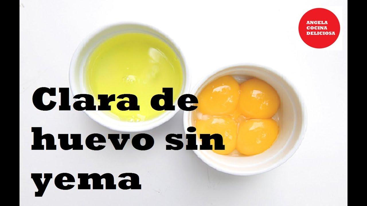 C mo sacar la clara del huevo sin la yema youtube for Cocinar yema de huevo