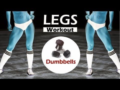 Complete Dumbbell Legs Workout - Leg workout with dumbbells at home by Coach Ali