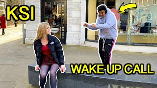 "Singing ""KSI - Wake Up Call"" In Public"