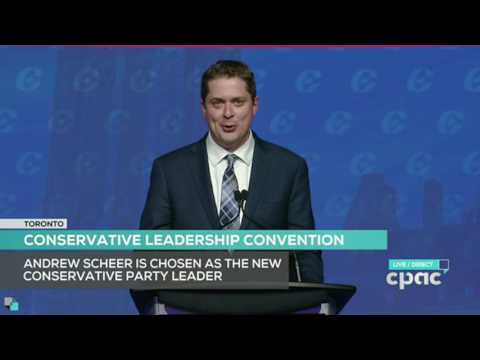 Social conservative Andrew Scheer wins leadership of Conservative Party of Canada on 13th ballot