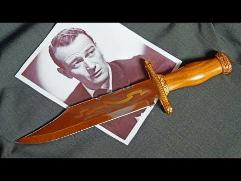 John Wayne Commemorative Bowie Knife Franklin Mint Spain Sammlermesser Collector