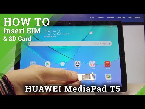 How To Insert Micro SD Card To HAUWEI MediaPad T5 - Input Memory Card