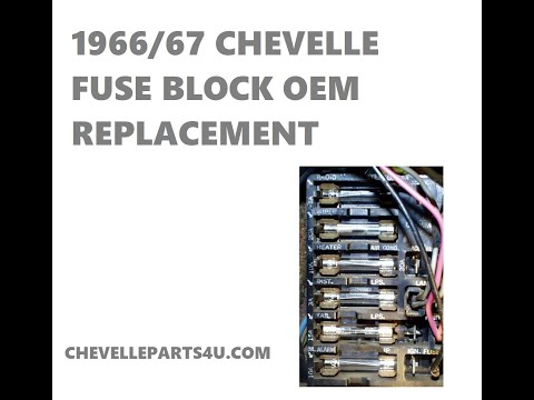 1966 1967 chevelle fuse block replacement on oem wiring harness