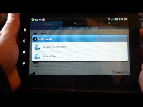 FrostWire For Android - How To Change Your Nickname