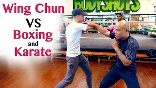 Wing Chun vs Karate and Boxing - Destroy the Cross