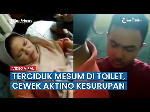Sepasang Kekasih Digerebek Mesum di Toilet, Cewek Langsung Akting Kesurupan, Cowoknya Pasang Celana