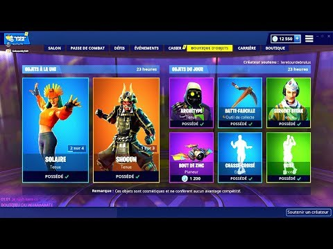 BOUTIQUE FORTNITE du 9 Mars 2019 ! ITEM SHOP March 9 2019 !
