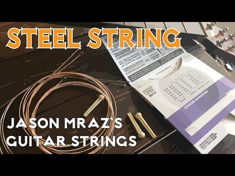 jason mraz 39 s guitar strings steel string youtube. Black Bedroom Furniture Sets. Home Design Ideas
