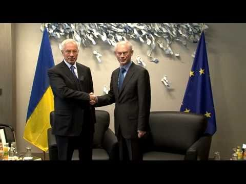 With Prime Minister of Ukraine, Mykola AZAROV