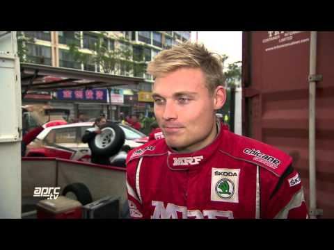CHN15 Pontus Tidemand interview after winning 2015 China Rally