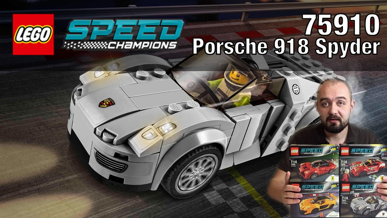 lego speed champions porsche 918 spyder 75910. Black Bedroom Furniture Sets. Home Design Ideas