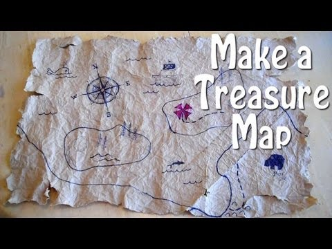 How to Make a Treasure Map - easy, even for slow pirates!