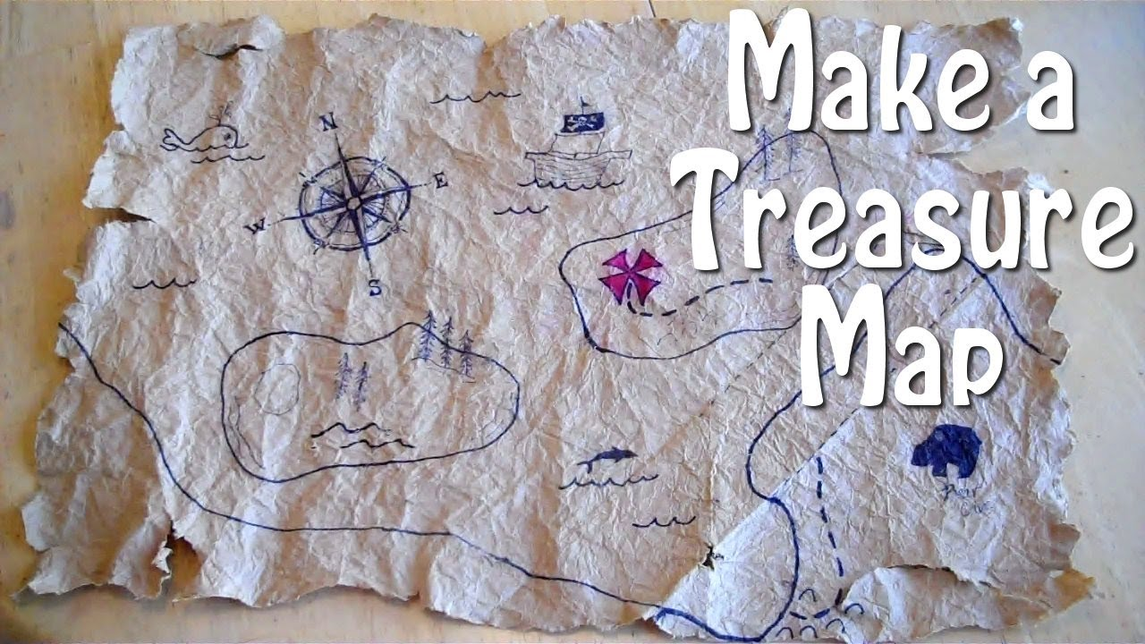How To Make A Treasure Map How to Make a Treasure Map   easy, even for slow pirates!   YouTube