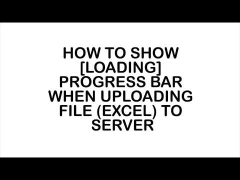 Show progress bar when uploading data to server jquery