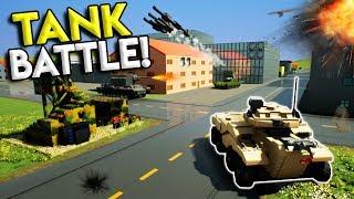 LEGO TANK BATTLE & BASE DEFENSE! -  Brick Rigs Multiplayer Challenge Gameplay - Lego Military