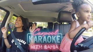 Toddler carpool karaoke