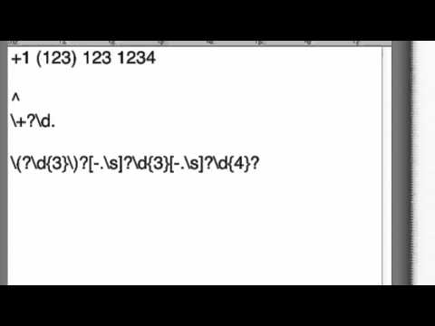 Regex Phone Number - Step by Step