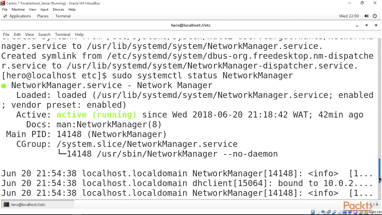 Troubleshooting Linux Administration : Resolve Network Connections with  Systemctl | packtpub com