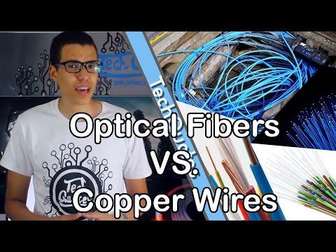 الفرق بين اسلاك النحاس و اسلاك الفايبر- Optical Fibers VS Copper Wires