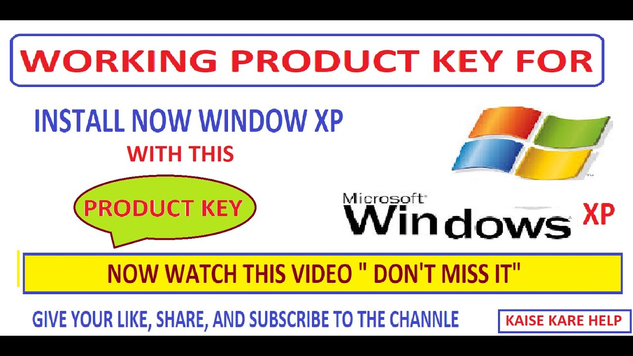 PRODUCT KEY FOR WINDOW XP SP3, SERVICE PACK 3 FREE WORKING ...